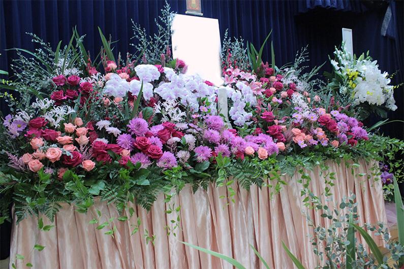 オリジナルの花祭壇