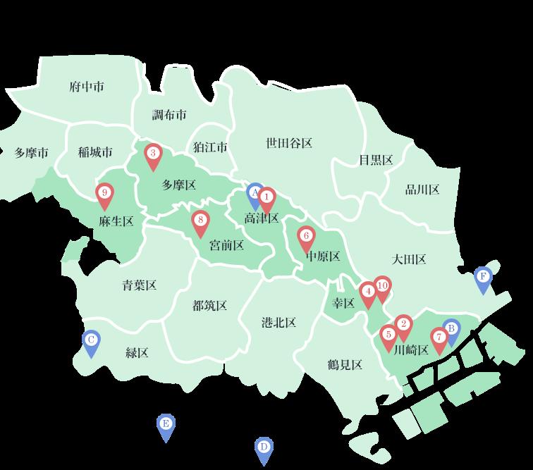 川崎市地図