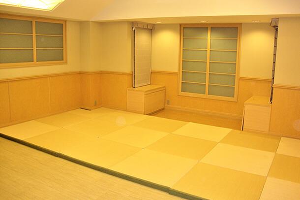 温かみのある納棺室