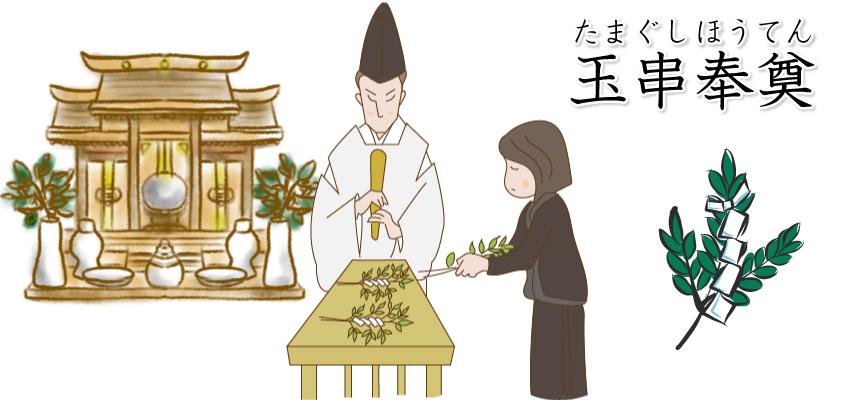 神葬祭で覚えておくべき玉串奉奠(たまぐしほうてん)の作法