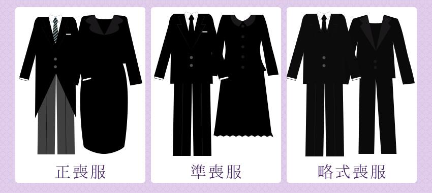 49日における服装の種類